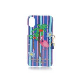 サマンサタバサプチチョイス フラミンゴiPhoneケース X(ネイビー)