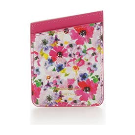 サマンサタバサプチチョイス 花柄カードポケット(フューシャピンク)