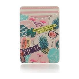 サマンサタバサプチチョイス プリントカードポケット(マルチカラー)