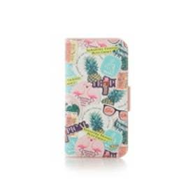 サマンサタバサプチチョイス iPhone6-8対応 プリントBOOK型ケース(マルチカラー)