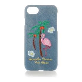 サマンサタバサプチチョイス iPhone6?8対応 デニム刺繍ハードケース(ブリーチデニム)