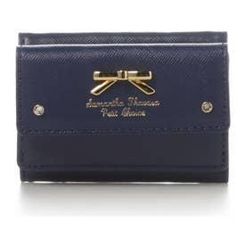 サマンサタバサプチチョイス シンプルリボンプレート ミニ財布(ネイビー)