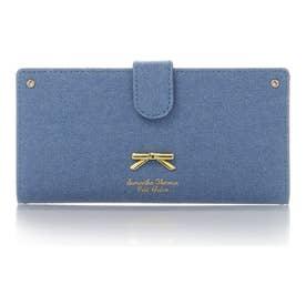 サマンサタバサプチチョイス シンプルリボンプレート デニムシリーズ 薄型長財布(ブリーチデニム)