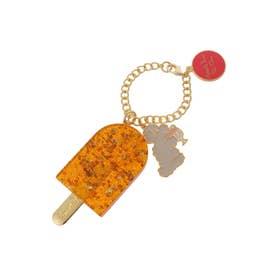 サマンサタバサプチチョイス Lara Collection イタリアシリーズ バッグチャーム(オレンジ)