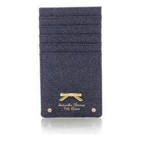 サマンサタバサプチチョイス シンプルリボンプレート デニムシリーズ カードケース(インディゴ)
