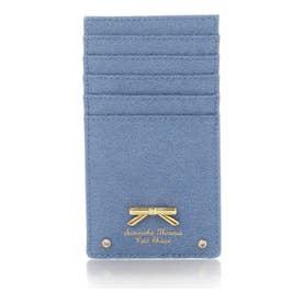 サマンサタバサプチチョイス シンプルリボンプレート デニムシリーズ カードケース(ブリーチデニム)