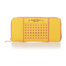 サマンサタバサプチチョイス パンチングシリーズ ラウンド財布(イエロー)