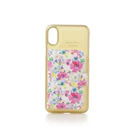 サマンサタバサプチチョイス サマンサ 花柄ミラー付着せ替えケースiPhoneX(イエロー)