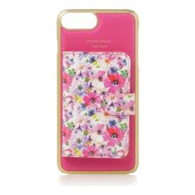 サマンサタバサプチチョイス サマンサ 花柄ミラー付着せ替えケースiPhone6+-8+(フューシャピンク)