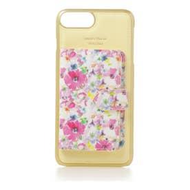 サマンサタバサプチチョイス サマンサ 花柄ミラー付着せ替えケースiPhone6Plus-8Plus(イエロー)
