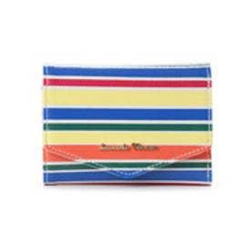 サマンサタバサ マルチボーダー小物 三つ折り財布(マルチカラー)