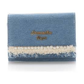 サマンサベガ デニムパール折財布(ブルー)