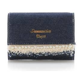 サマンサベガ デニムパール折財布(ネイビー)