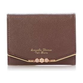 サマンサタバサプチチョイス フラワーバー金具シリーズ(折財布)(ブラウン)