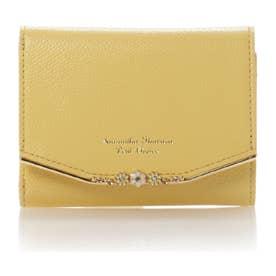 サマンサタバサプチチョイス フラワーバー金具シリーズ(折財布) イエロー