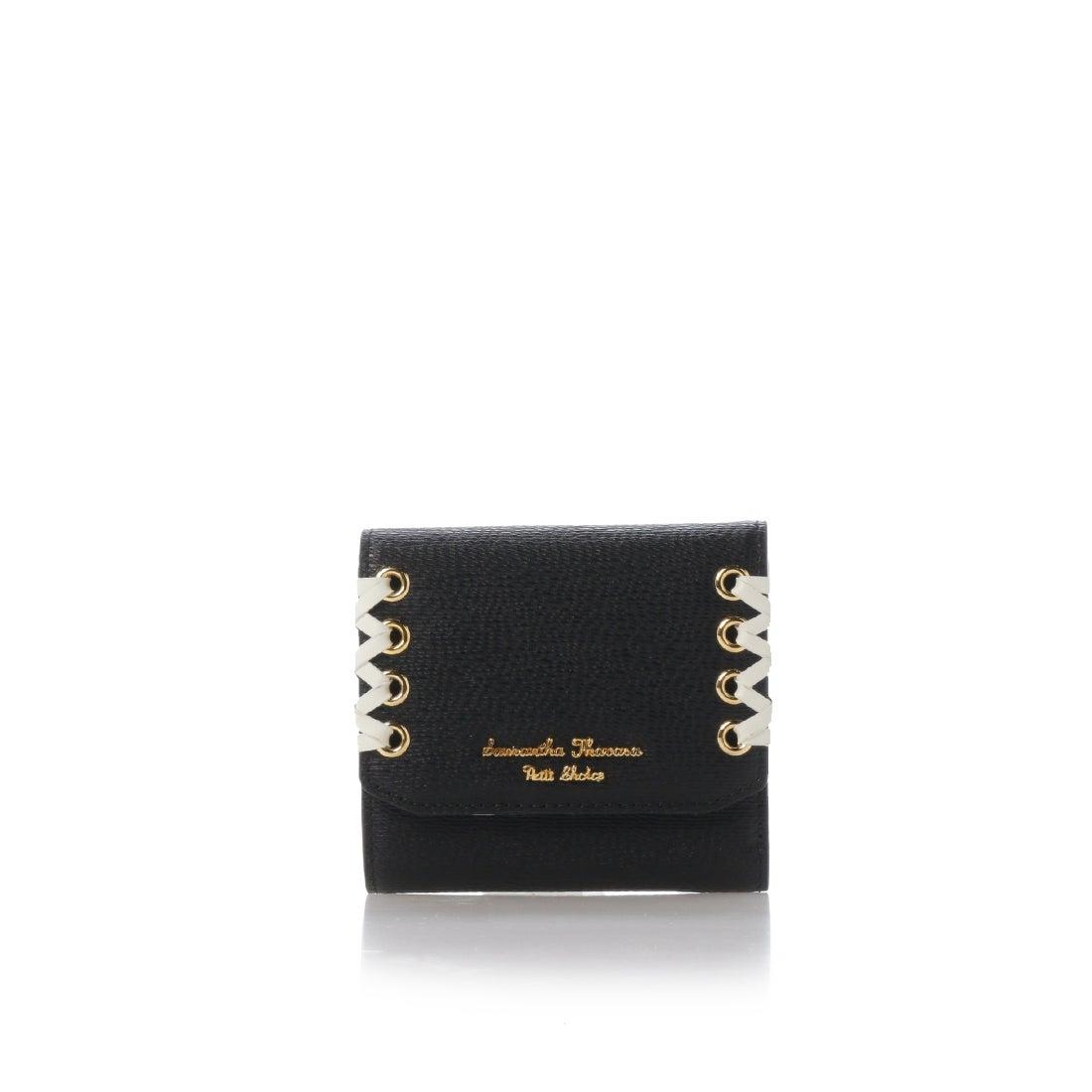 b638da1bd9b9 Samantha Thavasa サマンサタバサプチチョイス かがりリボンシリーズ(折財布) ブラック -サマンサタバサオンラインショップ by  ロコンド