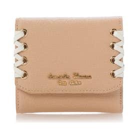 サマンサタバサプチチョイス かがりリボンシリーズ(折財布) ベージュ