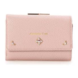 サマンサベガ シンプルビジュー折財布(ピンク)