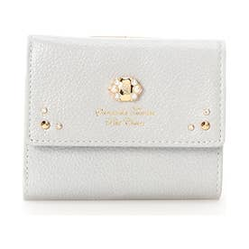 サマンサタバサプチチョイス ブローチパールシリーズ(折財布)(ライトブルー)