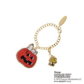 サマンサタバサデラックス かぼちゃ&スヌーピーチャーム(ゴールド)