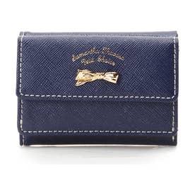 サマンサタバサプチチョイス アシンメトリーリボンシリーズ(折財布)(ネイビー)