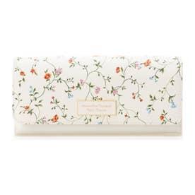 サマンサタバサプチチョイス フラワープリントシリーズ(長財布) ホワイト