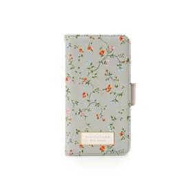 サマンサタバサプチチョイス フラワープリントシリーズ(iphone6+-8+ケース) グレー