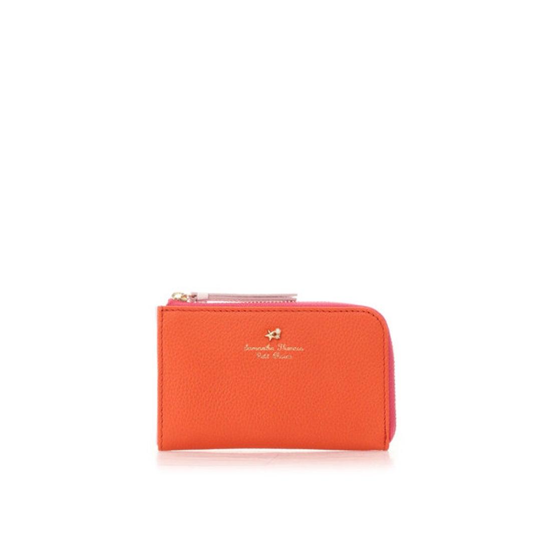 サマンサタバサプチチョイス Samantha Thavasa Petit Choice ヴィヴィッドピスカ マルチパスケース (オレンジ)
