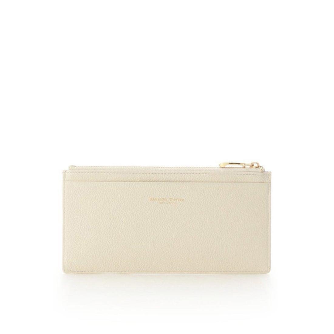 サマンサタバサプチチョイス Samantha Thavasa Petit Choice シンプルレザー 薄型カードケース (オフホワイト)