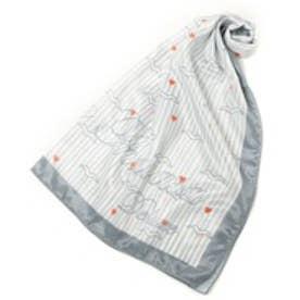 サマンサタバサデラックス カモメ柄スカーフ(グレー)