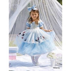 ドリームサマンサキッズ ディズニーコレクション ふしぎの国のアリス ドレス(ライトブルー)