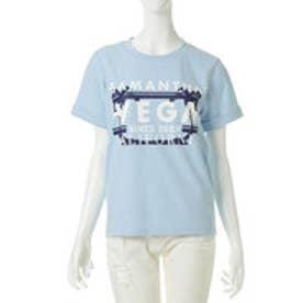 サマンサベガ VEGAロゴTシャツ(サックスブルー)