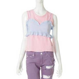 サマンサベガ フリルノースリーブシャツ ピンク