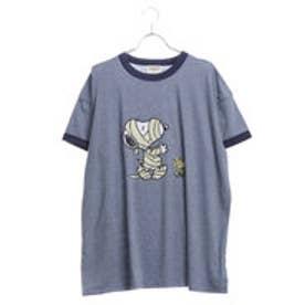 サマンサタバサデラックス スヌーピー カジュアルTシャツ ネイビー