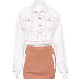 サマンサベガ 18SS デニムジャケット(ホワイト)