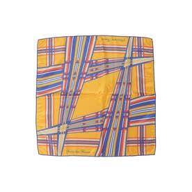 サマンサタバサ 幾何学柄 スカーフ オレンジ