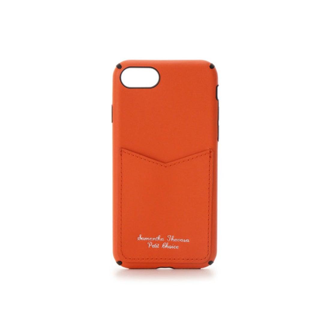 サマンサタバサプチチョイス カードポケットiphoneケース 7-8 オレンジ