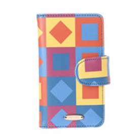 レディアゼル オリジナルプリントiPhone7ケース(赤系幾何、パネル柄)