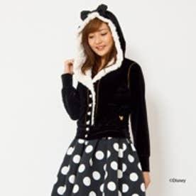 アンドクチュール【D23】 ミニーマウス/ベロアパーカー(ブラック)