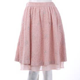 ウィルセレクション コードラメ刺繍スカート(ピンク)
