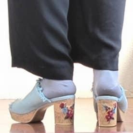 ノイエ マルシェ neue marche ストーム付ヒール刺繍ミュール/742 (ブルー)