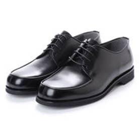 ブラック BLACK 幅広 超幅広 6E G 日本製 本革ビジネスシューズ Uモカ (ブラック)