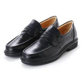リナシャンテ バレンチノ Rinescante Valentiano 日本製本革ビジネスシューズ ローファータイプ (ブラック)