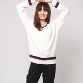 エル スポーツ ELLESPORT UVスポーティラインクルーネックセーター (オフベージュ)
