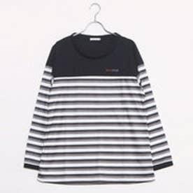 エル スポーツ ELLESPORT UVパネルボーダー切替Tシャツ (ブラック)