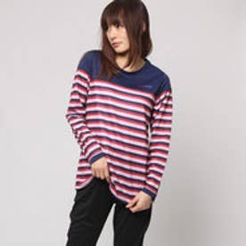 エル スポーツ ELLESPORT UVパネルボーダー切替Tシャツ (ネイビー)