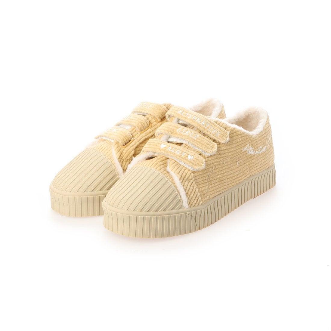ロコンド 靴とファッションの通販サイトアルジー ALGY ボア使い3連ベルト 厚底スニーカー (BE)