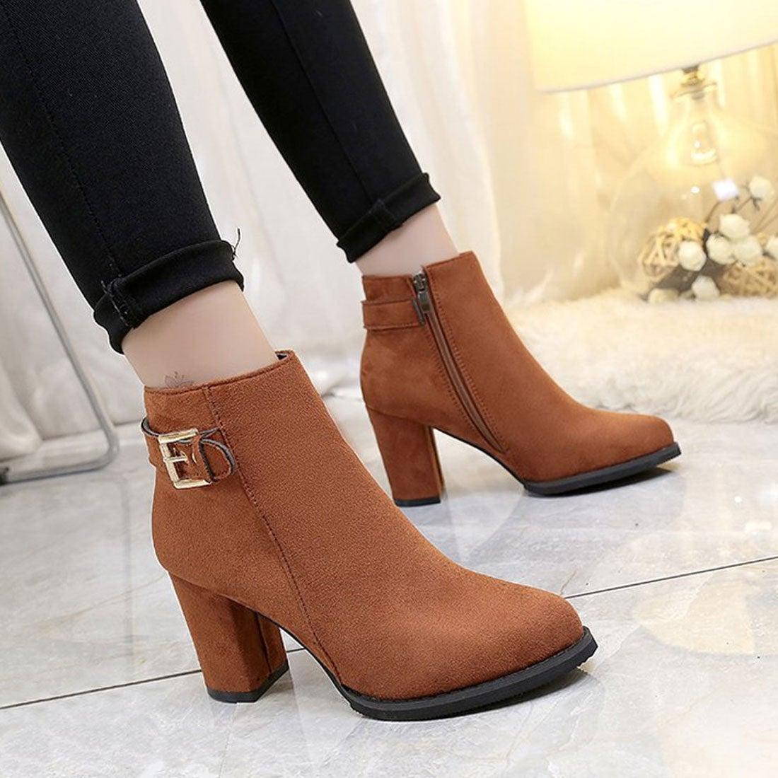ロコンド 靴とファッションの通販サイトヒルズスタイル hills style ショートブーツ (ブラウン)