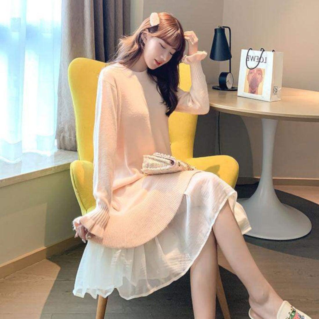 ロコンド 靴とファッションの通販サイトヒルズスタイル hills style ニットワンピ (ピンク)