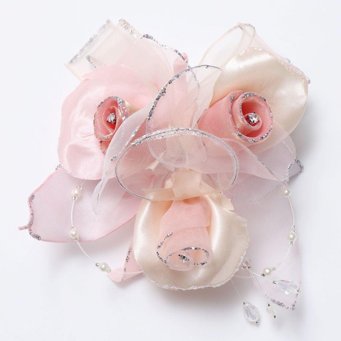 ロコンド 靴とファッションの通販サイトプレンドレ ラ ジョア prendre la joie 3輪オーガンジー下がりコサージュ (ピンク)